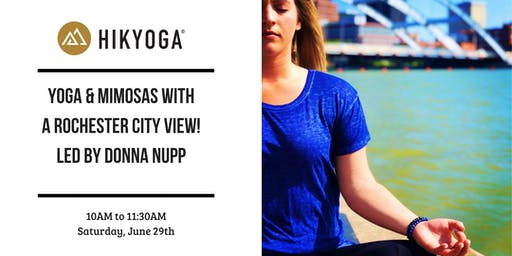 Yoga + Mimosas with a Rochester City View!
