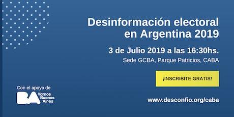 Desinformación electoral en Argentina 2019 tickets