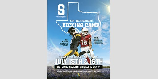 2019 Cen-Tex Charitable Kicking Camp + Shipley Performance WR Camp