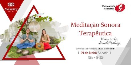 Meditação Sonora Terapêutica - Vivência de Sound Healing ingressos