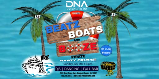 BEATZ, BOATS, & BOOZE Summer Pirate Party Cruise