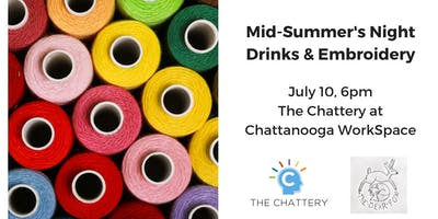 Crafts & Cocktails: Mid-Summer's Night Embroidery