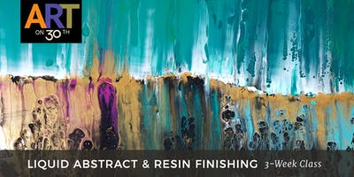WED - Liquid Abstract & Resin Finishing with instructor Brandon Jameson