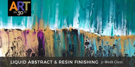WED - Liquid Abstract & Resin Finishing with instructor Brandon Jameson tickets