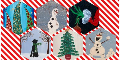 """Kids Open Paint (6yrs+) """"Christmas in July"""" Paint Your Favorite"""