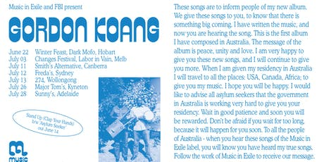 Gordon Koang (South Sudan/AU) at Freda's, Sydney tickets