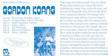 Gordon Koang (South Sudan/AU) at Major Tom's, Kyneton tickets