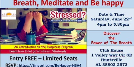 Breathe, Meditate and Be Happy tickets