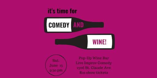 Comedy + Wine Night