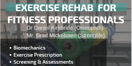 Exercise Rehab for Fitness Professionals - Friday June 21