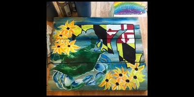 Black-Eyed Susan Pallet: Essex, Crazy Tuna with Artist Katie Detrich!