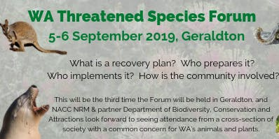 WA Threatened Species Forum 2019