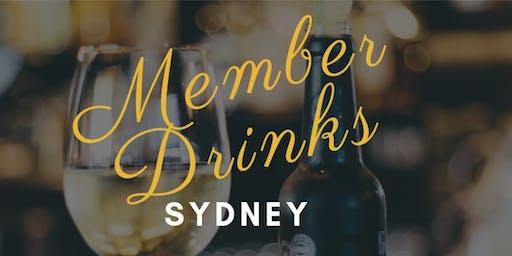 Sydney Member Drinks - Interface
