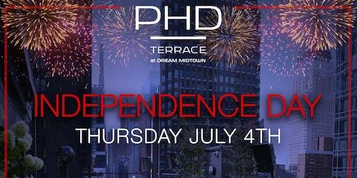 PhD Terrace at Dream Midtown July 4th