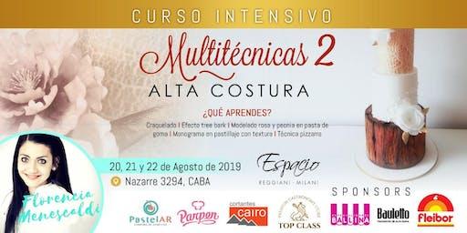 Taller Intensivo de 3 días con Florencia MENESCALDI: ALTA COSTURA MULTITECNICAS 2