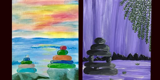 """Adult Open Paint (18yrs+) """"Sea Glass Serenity or Stone Serenity"""""""