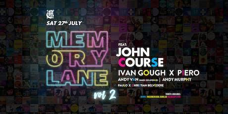 Memory Lane Volume 2 tickets
