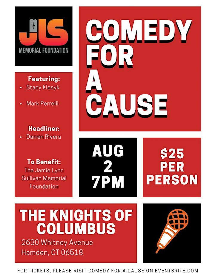 Comedy For A Cause presented by JLS Memorial Foundation image