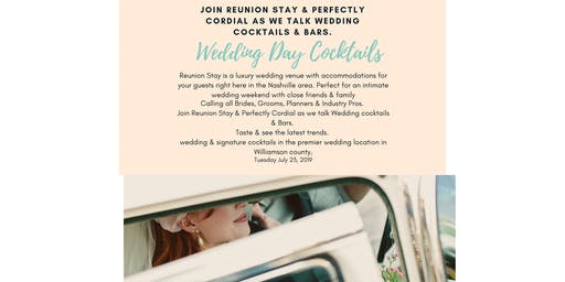 Discover Your Signature Wedding Cocktail