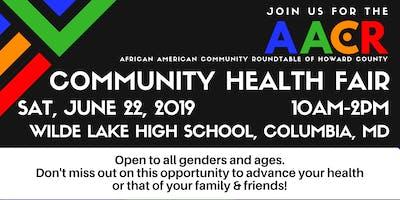 AACR Community Health Fair