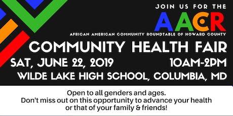 AACR Community Health Fair tickets