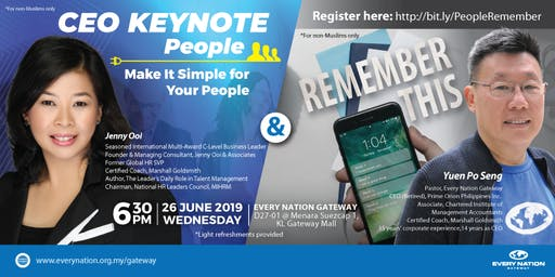 CEO Keynote: Make It Simple for Your People & Remember This