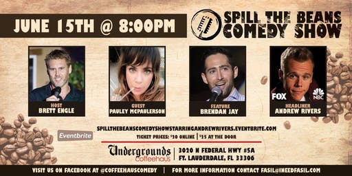 Spill the Beans Stand Up Comedy Show- Andrew Rivers (Special Event)