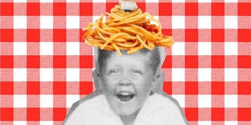 Giro Osteria's Annual Spaghetti Eating Competition