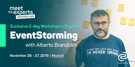 Meet the Experts Masterclass: EventStorming with Alberto Brandolini in Munich Tickets