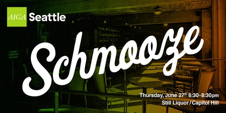 AIGA Seattle Schmooze: June 2019 tickets