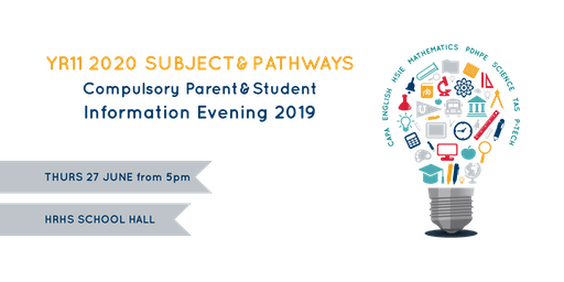 YR11 2020 Subject & Pathways  Information Evening