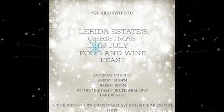 Lerida Estate Christmas in July Winter Feast tickets