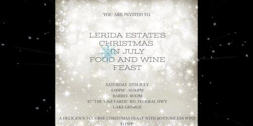 Lerida Estate Christmas in July Winter Feast