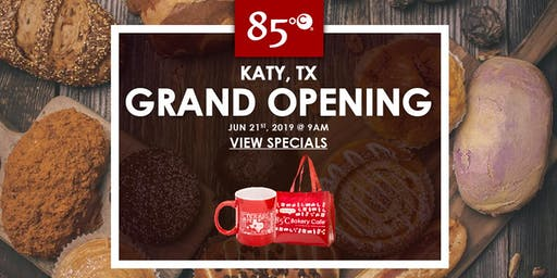 85°C Katy, TX Grand Opening Exclusive Freebies & Giveaway!