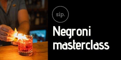 Negroni Masterclass @ sip