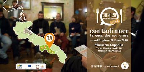 Contadinner 0 - Prov. Taranto - Masseria Cappella - Aziende Agricole biglietti