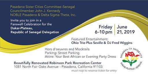 Pasadena Sister City Farewell Celebration for Dakar-Plateau, Senegal