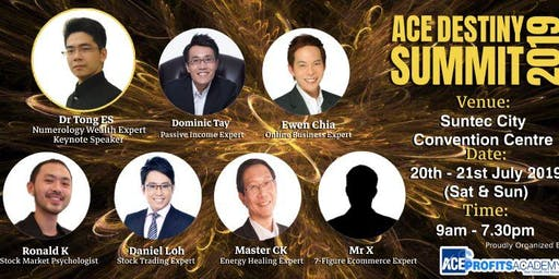 VIP Entry To ACE Destiny Summit SG 2019