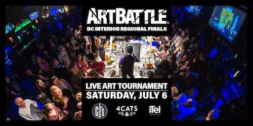 Art Battle BC Interior Regional Finals! - July 6, 2019