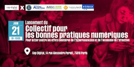 Lancement du collectif pour les bonnes pratiques numériques billets