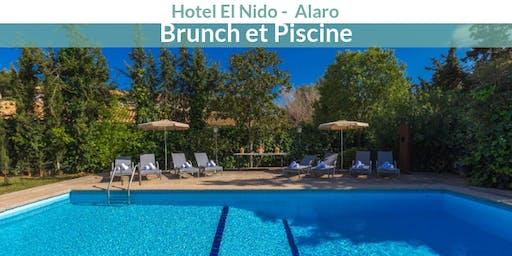 Brunch et Piscine à l'hôtel El Nido à Alaro