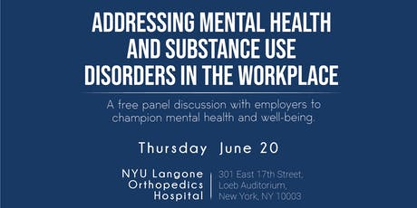 Addressing Mental Health and Substance Use Disorders in the Workplace tickets