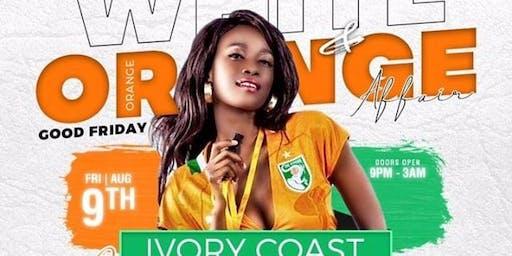 IVORY COAST INDEPENDENCE DAY (white and orange affair)