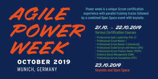 Agile Power Week | 7(!) Scrum.org certification trainings in parallel tracks