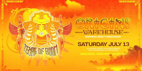 Temple of Boom: Origins Warehouse Party tickets