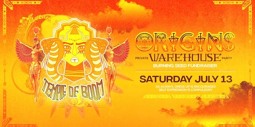 Temple of Boom: Origins Warehouse Party