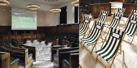 Town Hall Hotel screens Wimbledon 2019 tickets