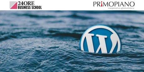Corso Professione Blogger con WordPress biglietti