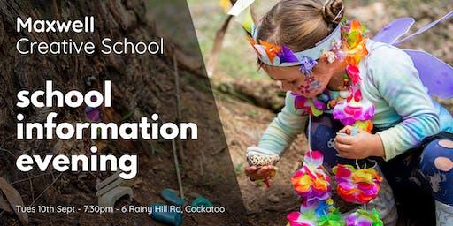Maxwell Creative School Information Evening