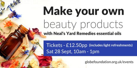Make your own natural beauty products tickets